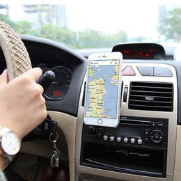 Wholesale Galaxy S4 Gps - Magnetic Mobile Car Phone Holder Universal For iPhone 6 Samsung Galaxy S6 S5 S4 S3 Aluminum + Silicone Car Air Vent Stand Mount