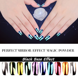 Wholesale Diy Nail Magic - Wholesale- 2g New Shinning Perfect Super Mirror Nail Glitter Magic Powder Dust DIY Nail Art Sequins Chrome Pigment Decorations Tools