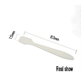 Wholesale Translucent Masks - Cosmetic tool 100pcs lot translucent cosmetic spatulas free shipping,wholesale PP plastic spoon,83mm mask spoon
