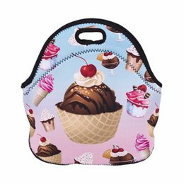 Wholesale Kids Lunch Totes - free shipping bolsa termica lancheira neoprene bread lunch bag milk large thermal bag lunch boxes women kids snacks school tote