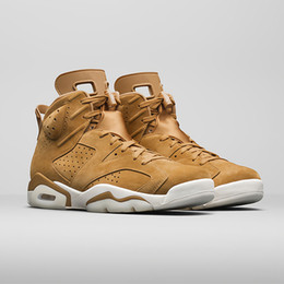 Wholesale Eva Balls - 2017 Newest High quality retro 6 wheat Men's Basketball Shoes Sneakers Retro 6s Basket ball Shoe Sports sneaker Size 7-13