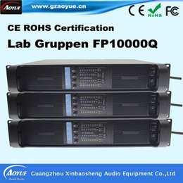 Wholesale audio amplifier tubes - hot sale Gruppen FP10000Q Professional Pro Power Amplifier sound system tube amplifier audio with three year warranty