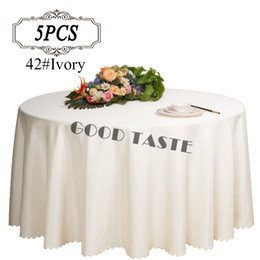 Wholesale Wedding Overlay Cloths Wholesale - Free Shipping 5PC All Size White Wedding Table Cloths  Elegant Table Cloth Overlay for Wedding Decor  Polyester handmade Table Cover Linens