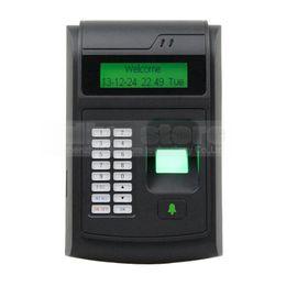 Wholesale Rfid Codes - LCD Biometric Fingerprint PIN Code Door Lock Access Control + 125KHz RFID ID Card Reader Keypad USB   Door Bell Button