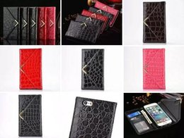 Wholesale Snake Skin Money Wallets - Snake Strap Wallet Leather Pouch Case For Iphone 8 7 I7 6 6S Plus Crocodile Fold Envelope Golden Croco TPU ID Card Photo Money Skin Fashion