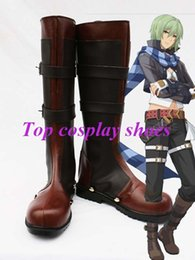 Wholesale Ao Cosplay - Wholesale-Freeshipping The Legend of Heroes Ao no Kiseki Wazy Hemisphere Cosplay Boots shoes custom-made for Halloween Christmas festival