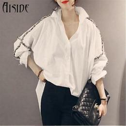 Wholesale Shirt Women Blouse - 2017 Spring High Quality Tassel Blouse Women Casual Loose Ladies Tops Turn-down Collar women shirts Plus Size Blusa Feminina