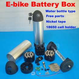 Wholesale 36v Ebike Battery - 24V 36V 48V Ebike battery box case Electric bicycle lithium battery case Water bottle case 36V li-ion batteries box