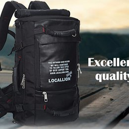 Wholesale Multifunctional Backpack Male - Wholesale- 45L New Fashion Knapsack Waterproof Men Rucksack Travel Male Rucksack Multifunctional Backpack