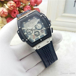 Wholesale Leather Jewelry For Men - All Subdials Work AAA Men womenes Stainless Steel Quartz Wristwatches Stopwatch Luxury Watch Top Brand relogies for men relojes Best Gift