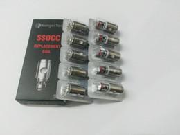 kanger nebox bobinas Desconto Kangertech SSOCC Bobinas verticais Ni200 0.15ohm ssocc bobina 0.5 1.2 1.5 ohm Para kanger Subtank Nebox subvod Atomizador