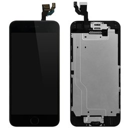 Wholesale Iphone Display Home Button - 2018 4.7 inch LCD For iPhone 6 Display touch screen No Dead Pixel Grade AAAA white black Digitizer Assembly with Home button + Front camera