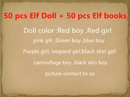 Wholesale Soft Toys Dolls - Free DHL 10 Style Christmas Elf Doll Plush toys Elves Xmas dolls on the shelf and Soft Back Books For Kids Holiday And Christmas Gift