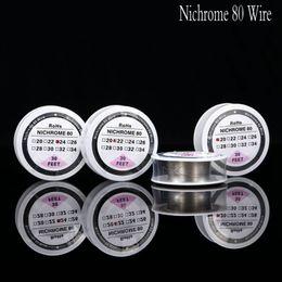alambre calibre 26 calibre Rebajas Nichrome 80 Wire 30 Feet 20 22 24 26 28 30 32 34 Calibrador para DIY Rebuildable RDA RBA Vaporizador Atomizador