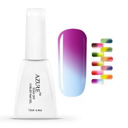 Bottiglia in polvere uv per unghie gel online-Il gel UV del gel di LED UV di cambiamento di temperatura UV di colore 12ml / bottiglia inchioda il gel per unghie Soak fuori dal polacco del gel