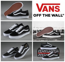 VANS Classic Old Skool Low Cut Casual  Canvas Shoes Classical White Black Brand Women And Mens  Sneakers Skateboarding Shoes