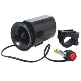Wholesale Bell Horn - Wholesale-Bycicle Electronic Horns Waterproof ABS Plastic Ultra-loud Cycling Bike Handlebar Ring Bell Horn Loud Alarm Bell Siren high