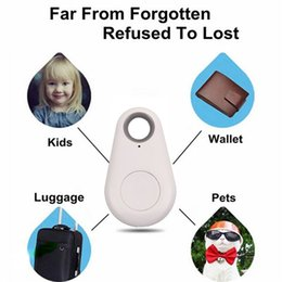 2019 sac à volet Itag Bluetooth GPS Tracker Anti-Perdu Alarme Tracer Bluetooth Key Finder Locator Télécommande Obturateur pour tous les Smartphone avec OPP Sac promotion sac à volet