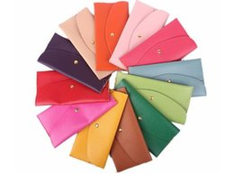Wholesale Envelope Bag Clutch Vintage - 2016 Fashion Candy Color Lady Wallets PU Leather Credit Card Tote Envelope Clutch Bags For Women Wallet Purse Coin bag Pouch