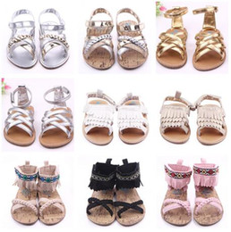 Wholesale Kids Gladiator Shoes - DHL Baby Kids Sandals 2016 Baby PU Leather First Walker Shoes Toddlers Gladiator Sandals Infant Summer Tassels Mocassions Shoes