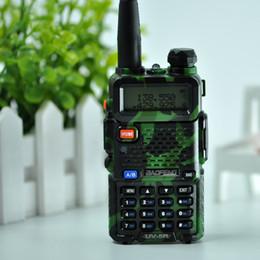 Wholesale 5w Uhf Handheld - DHL Ship BaoFeng UV-5R Walkie Talkie Professional CB Radio Baofeng UV5R Transceiver 128CH 5W VHF&UHF Handheld UV 5R For Hunting Radio