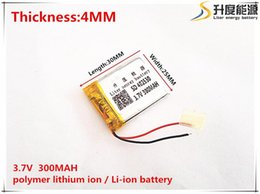 Wholesale Polymer Lithium Rechargeable Battery - 3.7V 300mAh 402530 Lithium Polymer Li-Po li ion Rechargeable Battery cells For Mp3 MP4 MP5 GPS PSP mobile tablet battery