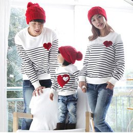 2020 мама дочери футболки Wholesale-2016 Family fashion Spring/Autumn family pack cotton set mom/dad/child clothes, mom and daughter striped long-sleeve T-shirt F2 скидка мама дочери футболки