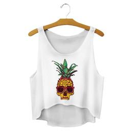 Wholesale Womens Orange Tank Top - Wholesale-2016 21 Types Pattern Summer Casual Womens Emoji Tank Top Vest Blouse Sleeveless Cartoon Crop T-Shirt