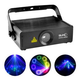 Wholesale Laser Light Sources - Wholesale-SUNY RGB 400mW Laser SD Card Program Source ILDA 24 CH DMX Animation Projector Stage Lighting PRO DJ Show Scanner Lights SRGB400