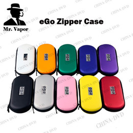 Wholesale Metal Case For E Cig - New Ego Zipper Case Metal Cases Electronic Cigarette Zipper Metal E Cig Bags For Ego Evod CE4 CE5 MT3 Protank Ego Starter Kit
