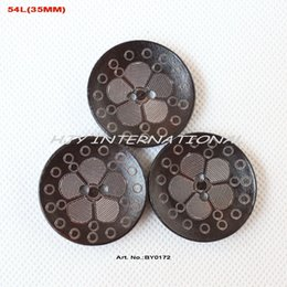 Wholesale Wholesale Craft Supply China - (60pcs lot) Custom Wooden buttons bulk supplies China crafts toy sewing button large 35mm-BY0172