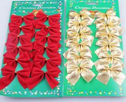 bogen für weihnachtsbäume Rabatt Christmas Tree Bow drei Farben wählen Dekoration Baubles Merry Xmas Party Garden Bögen Ornament Tuch Verwendung CB002