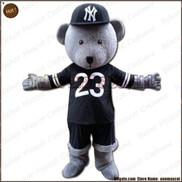 Wholesale Green Bear Mascot Costumes - Hip hop teddy mascot costume EMS free shipping, cheap high quality carnival party Fancy plush walking teddy bear mascot cartoon adult size.