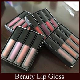 Wholesale Icon Waterproof - Beauty Famous brand Matte Liquid lipstick Kit Lip Gloss Make up Waterproof Long Lasting Lipgloss Trophy Wife Icon 4pcs Set free DHL