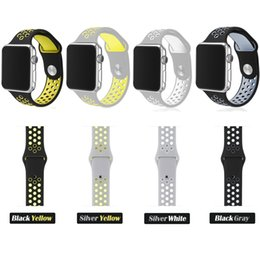 Wholesale Sport Fashion Silicon Watch - Silicon Sports Band Strap for Watch Black Volt Bracelet for Apple Watch Band Series Rubber Watchband iwatch belt band