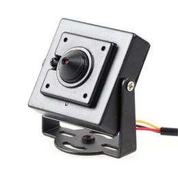Wholesale Ccd Mini Camera Lens - 1 3 HD color ccd 700tvl mini analog camera cctv camera 3.7mm pin hole lens good quality