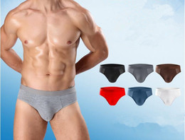 Wholesale Hot Bikini Models - 10pcs lot Hot Active Sports Model Breathable mesh men's Bikini brifes underpants Big soft U Design bulge Ice silk Bump Men's Underwear