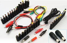 Wholesale Dc Power Jack Connector Laptop - 48pcs Universal Laptop AC DC Jack Power Supply Adapter Connector Plug for HP IBM Dell Apple Lenovo Acer Toshiba Notebook Cable