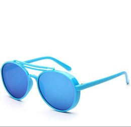 Wholesale Colored Glasses For Men - Sunglasses for Children student NEW 2017 vintage sun glasses dress Party Casual PC clear travel Unisex Pretty colored