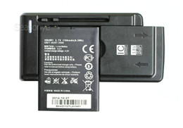 Wholesale Hb4w1 Batteries - 1x 1700mAh HB4W1   HB4W1H Replacement Battery + Universal Charger For Huawei Ascend W2 G510 G520 G525 T8951 U8951 D Y210
