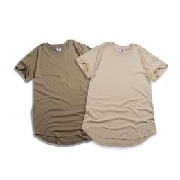 Удлиненные негабаритные футболки онлайн-Лето лучшие продажи мужчины с коротким рукавом расширенный хип-хоп Майка негабаритных tyga kpop Хабар одежда Мужская повседневная спорт yeezus уличная camisetas