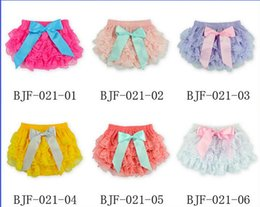 Wholesale Pp Skirt Headband - (Headband + lace skirt) baby summer suits 2016 pretty bows cheap kids lace PP shorts candy color girl skirt in stock 10set A23