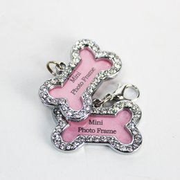 Wholesale Metal Cat Decoration - Customized Metal Dog Tag Accessories ID Tags For Pets Hangtag Engraved Words On Bones Shape Cats Dogs Supplies Decoration