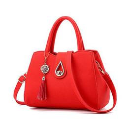 Wholesale Cell Phone Pendants - Women Tassel Pendant Handbag Water Droplets Sequined Messenger Bag High Capacity Shell Shoulder Bag Female Designer