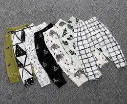 Wholesale Infant Fox Clothing - Baby pants Legging Harem PP pant Trousers Fox Arrow INS boys girls infants Toddler Full print kids clothes homewear