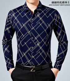 Wholesale Men Dress Shirts New Style - 2016 New style Men Slim fit neckline stylish shirts Fashion Shitsuke grain twill men long sleeve Mercerized cotton shirt Size: M-4XL CS18
