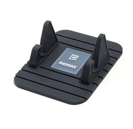 Wholesale Silicone Car Mats - Remax Car Dashboard Moible Phone GPS Anti Slip Mat Holder Desktop Stand Bracket Silicone For Cell phone iphone Samsung Huawei