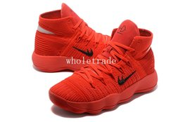 Wholesale Chinese Canvas Sneakers - Free Shipping Hyperdunk BHM Chinese Red Basketball Shoes Mens Hyperdunk 2017 Chinese Red Sneakers Size US 7-12 Come With Box