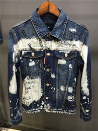 Wholesale White High Waist Jeans - 2017 new luxury brand Basic Coats Autumn Winter Men fashion all Denim Jacket Vintage slim fit italian caten Brand Jeans Coat brothers