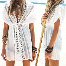 Wholesale Crocheted Swimwear - New Sexy Women's Lace Crochet Bathing Suit Bikini Swimwear Cover Up Beach Dress
